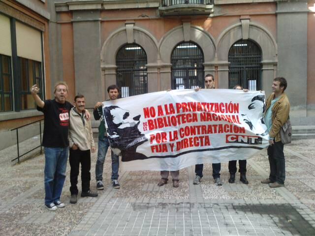 Solidaridad de la UCM con la clase trabajadora de la BNE