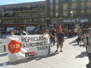 Piquete en Lavapiés en Solidaridad con Tania Gálvez