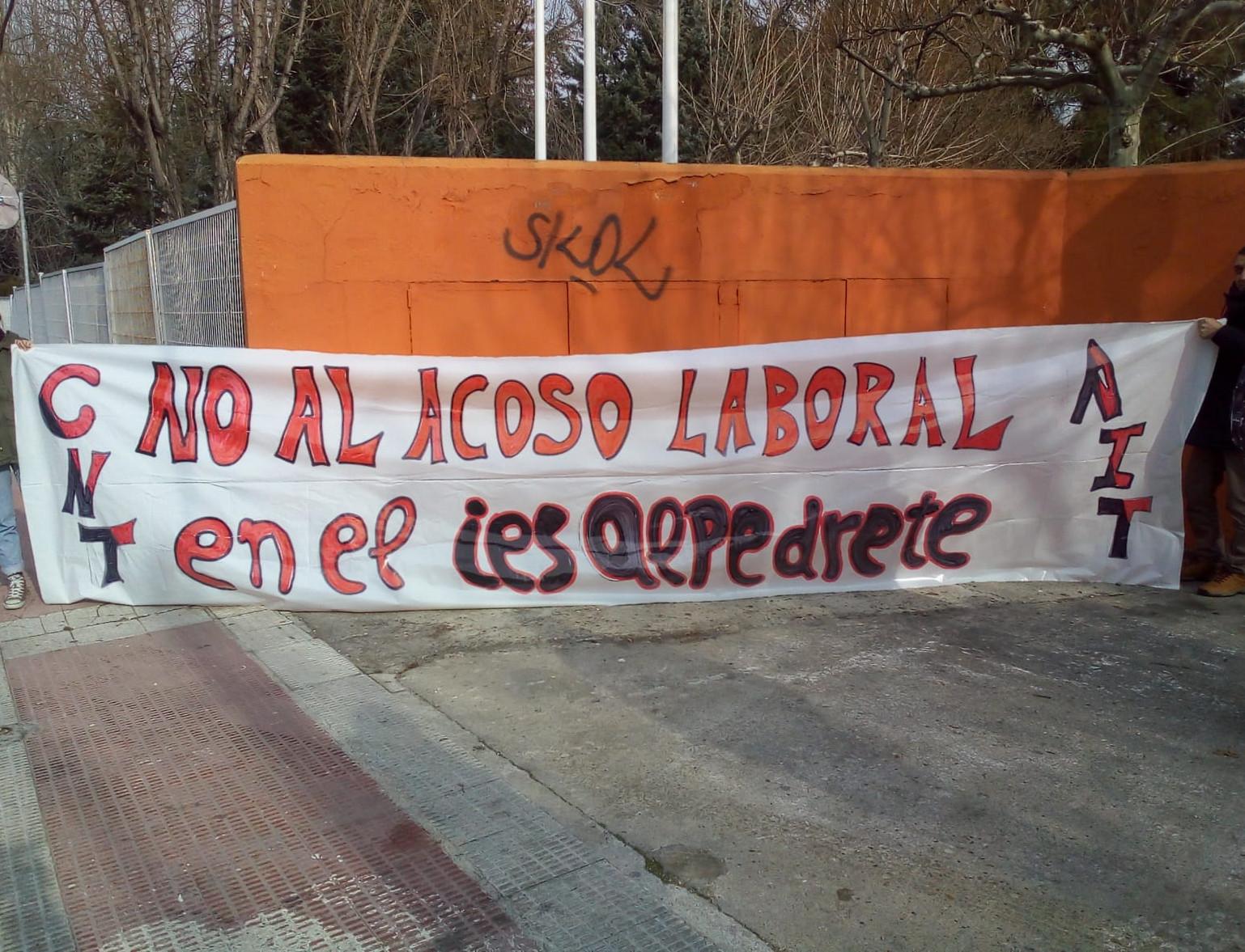 No al acoso laboral en el IES Alpedrete