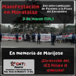 Manifestación 9 de Marzo (19h.): Justicia para Marijose