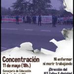 [11 mayo] Concentración por el cese de la dirección del IES Felipe II